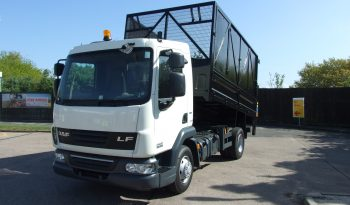 front view of daf caged tipper truck