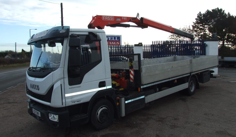 2017 IVECO 75 E160 FASSI F85 CRANE ONLY 9,085 KMS full