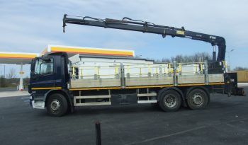 DAF 75 310 REAR STEER WITH HIAB 144 DUO REAR MOUNT CRANE full