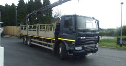 DAF 75 310 REAR STEER WITH HIAB 144 DUO REAR MOUNT CRANE