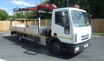 EURO 6 2016 IVECO 75 E16 HMF 635 CRANE full