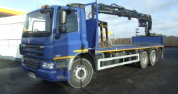 DAF CF 75 26 TONNE AIR SUSPENSION HIAB 166