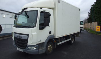 front left view DAF 7.5 TONNE BOX VAN WITH COLUMN TAIL LIFT