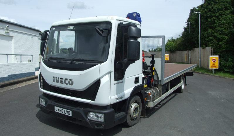 IVECO 75E16 DROPSIDE TRUCK WITH PM 6 CRANE full
